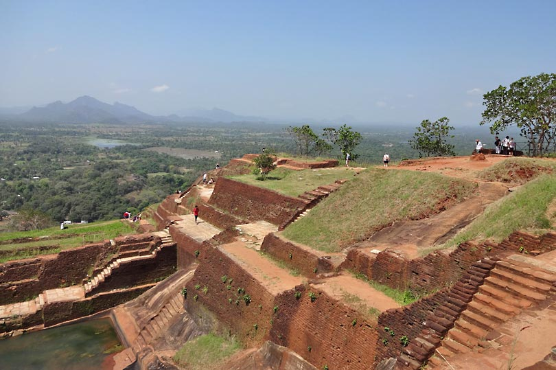The view from Sigiriya Rock Fortress