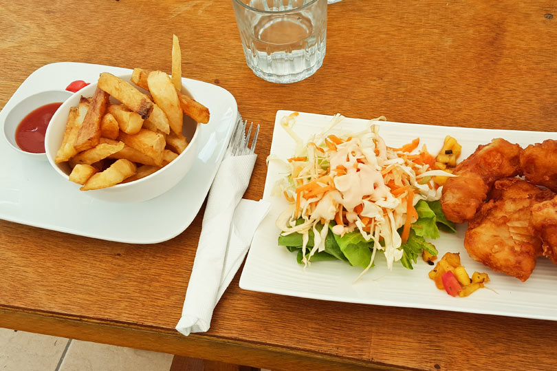 Fish and chips in Fiji