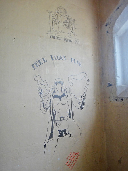 Inmate art at quirky hostel in former prison