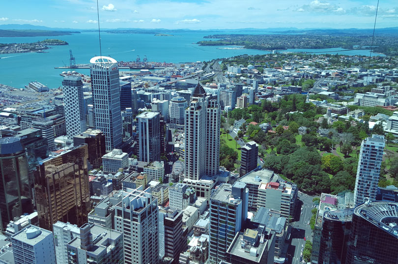 The view from the Sky Tower Auckland, New Zealand