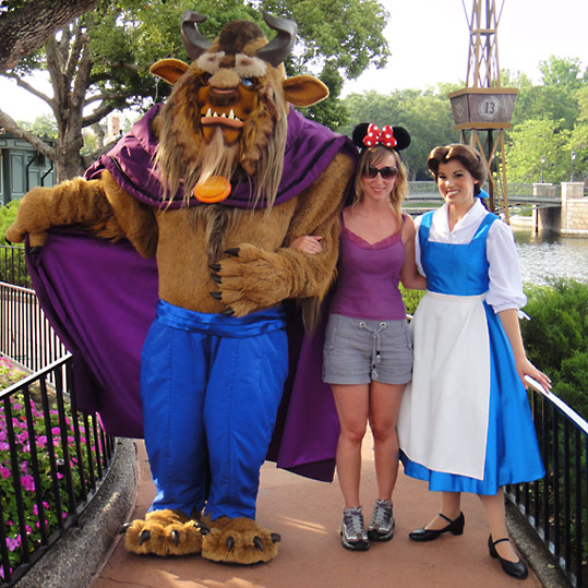 Meet Beauty and the Beast in France at Epcot in Orlando