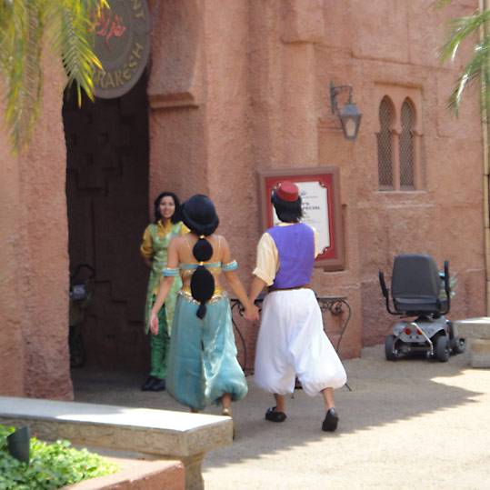 Papped! Jasmine and Aladdin holding hands in Morocco