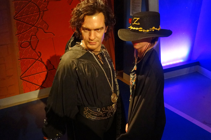 Have your picture taken with Zorro at Madame Tussauds Hollywood