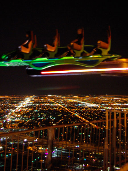 One of the 3 terrifying rides at the top of the Stratosphere Tower