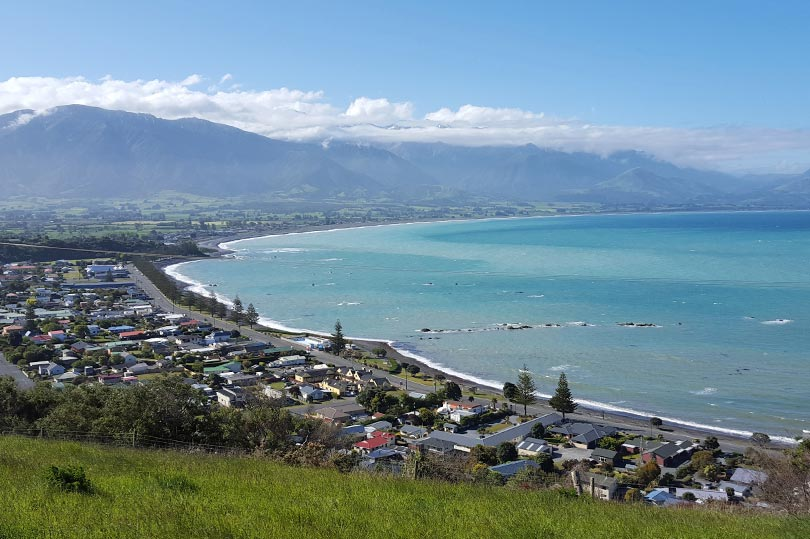 View of Kaikoura in New Zealand's South Island