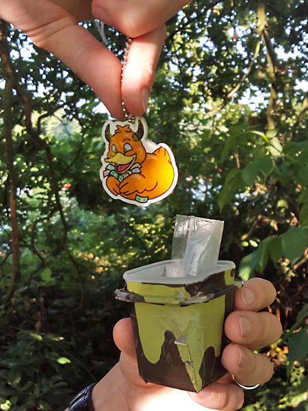 Placing a trackable into a geocache