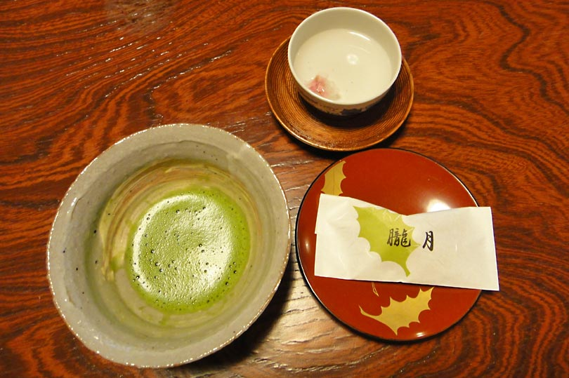 Matcha and sakura teas