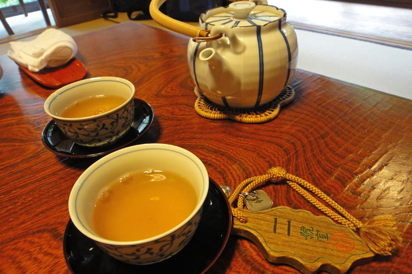 Japanese tea served at a traditional ryokan (Japanese inn)