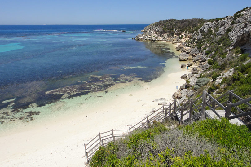 Beautiful beach of Rottnest Island in Western Australia