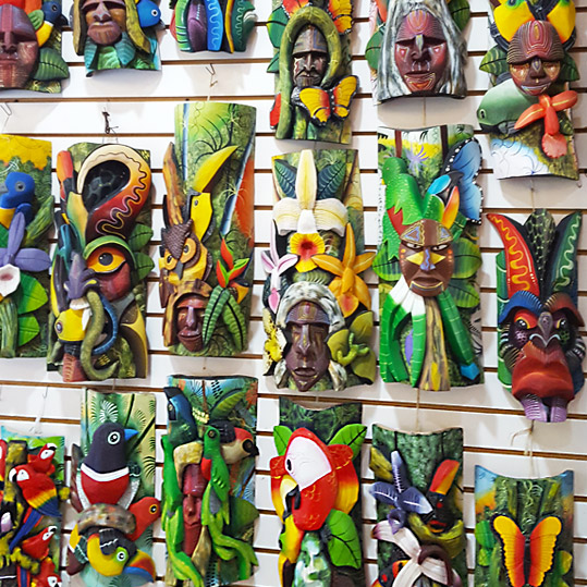 Beautiful art created by the indigenous tribe called the Boruca, in Costa Rica.