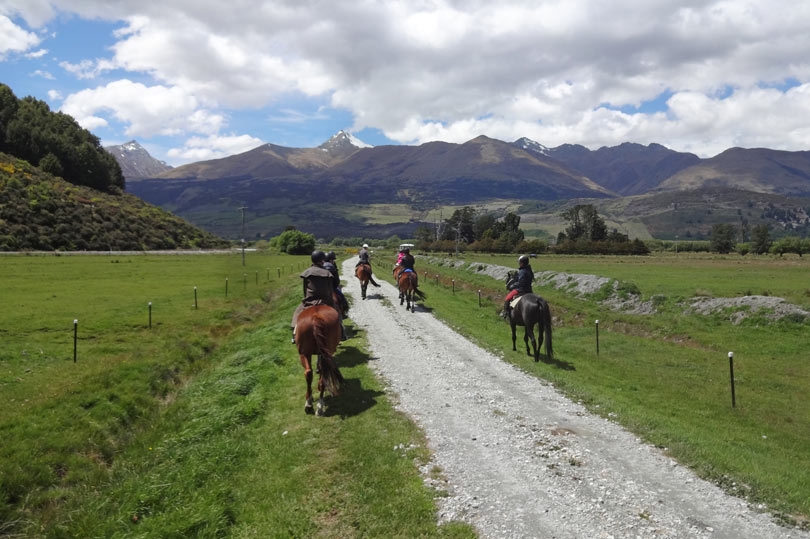 Horse riding in Glenorchy New Zealand