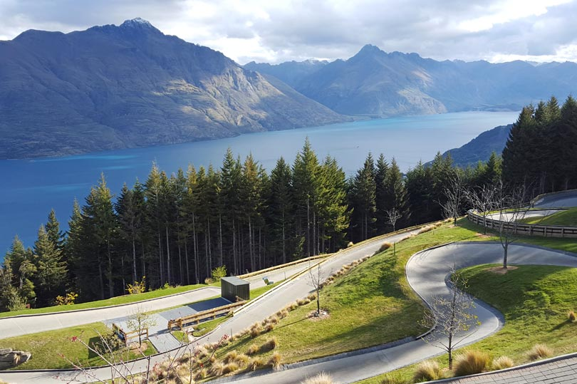 Luge track in Queenstown New Zealand