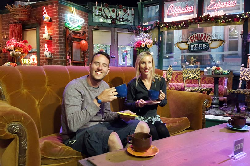 You can sit on the Friends sofa at Warner Bros Studio Tour Hollywood